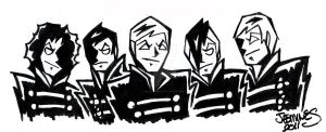 Black Parade Sketch by XBlackFerretX