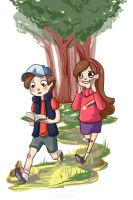 Gravity Falls by Kayetart
