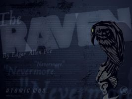 Atomic Moo Wallpaper: The Raven by AtomicMoo