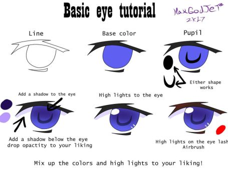 Basic anime eye tutorial  by HaxGodJet