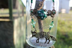 Prince of the Forest Fox Wire Wrapped Necklace by TiellaNicole