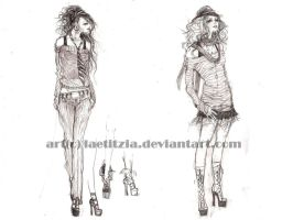 fashion sketches by Elena-Ciolacu
