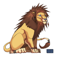 Quick OC - lion character by toshema