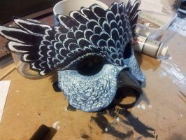 Owl masquerade Mask Finished 2 by firedrack