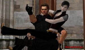 Wesker and Claire - Outtakes D by IamAlbertWesker