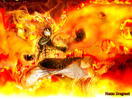 natsu on fire by rudoniags