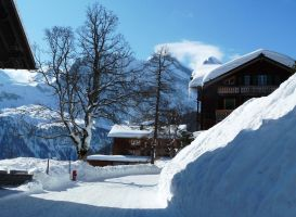 Swiss mountain village by Cadaska