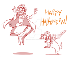 Hallow Comish by Kitty-Can-Draw