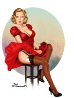 Lady in Red by ted1air