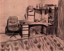 Charcoal Still-Life by Shailll