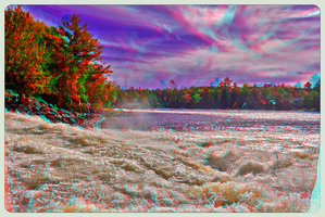 Bala Falls 3-D ::: HDR/Raw Anaglyph Stereoscopy by zour