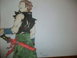 Guy Holding Sword -Copic Marker by zack-pack