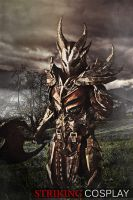 Dovahkiin in Daedric Armor from TES: Skyrim by StrikingCosplay