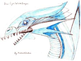 Blue-Eyes White Dragon by RickyDutton