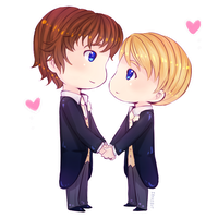 Chibi Johnlock Wedding by ibahibut