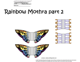 Rainbow Mothra part 2 by theSwordofRainbows