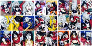 24 Lady Death vs SHI official sketch cards by mdavidct