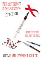 AIDS Awareness Poster by Rosary0fSighs