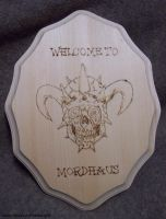 Facebones Welcome Plaque by pirateking42