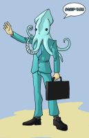 Business Squid by Karusho