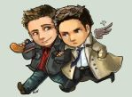 Comish - FC - Dean and Cas by oneoftwo