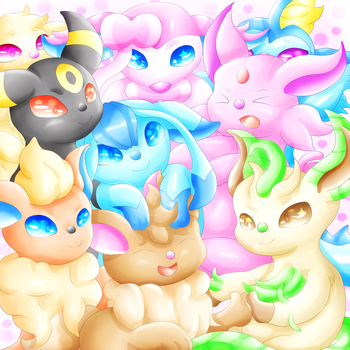 Eeveelutions by lavaquil