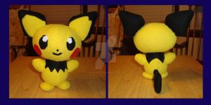 Pikachu Colored Pichu, or Shiny Pichu Plushie by Dark-and-One-Other