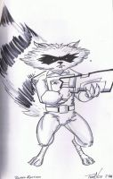 Rocket Raccoon by TeeMinus