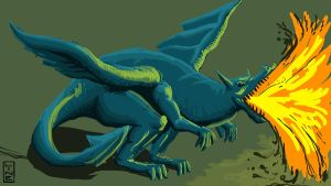 06 14 2012 Quicky Dragon Paint by LineDetail