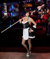 French Maid Nidalee Cosplay by MicukoHikaru