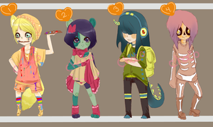 Halloween Adopts 2 (Open) by ChocoRevolution