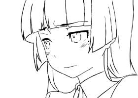 Kuroneko Lineart done by codeobsidian