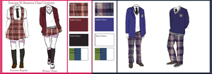 Gakuen Hetalia Uniforms: Europe/N.America by Literary-Git