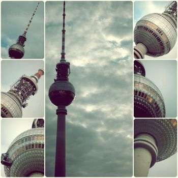 tv tower berlin city. by seelenmord