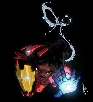 Iron heart - Marvel girls by ilustrajean