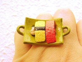 Sushi Ring Egg and Tuna Fish by souzoucreations