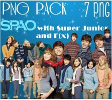 SPAO Super Junior and F(x) - PNG Pack by KangHyoNeul