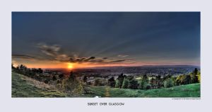 Sunset over Glasgow by Dr-Koesters