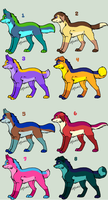 Dog adoptables (3/8 OPEN) by NightFever100