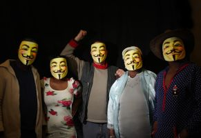 Anonymous Five by Photoburner