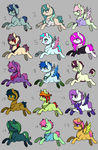 Pallete ponies Adopts(ALL CLOSED) by ratjayadopts