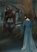 Arthur and the Lady of the lake by LauraTolton