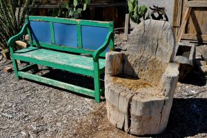 Log chair and bench by lawout16