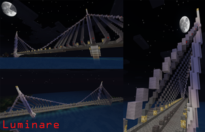 Minecraft- Suspension Bridge by X-Luminare-X