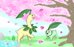 Bayleef and Chikorita by GGFOX22