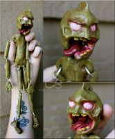Zombie marionette progress by Rabeccasaurus