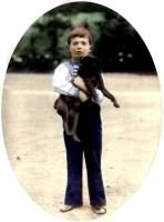 Alexei with his dog by historicalgirl