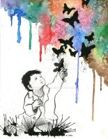 Child catching butterflies by Chiba-Wolf