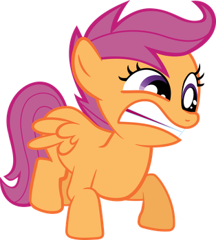 Scootaloo Angry by PsychicWalnut