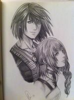 Noel and Serah by Fang-Vanille